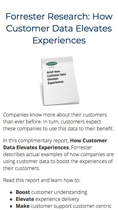 Forrester Research: How Customer Data Elevates Experiences