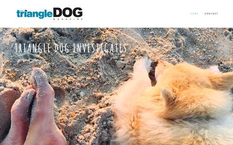 Screenshot of Home Page thetriangledog.com - Triangle Dog - captured Dec. 22, 2016