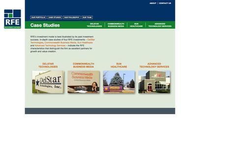Screenshot of Case Studies Page rfeip.com - Case Studies :: RFE :: RFE Investment Partners - captured Oct. 26, 2014