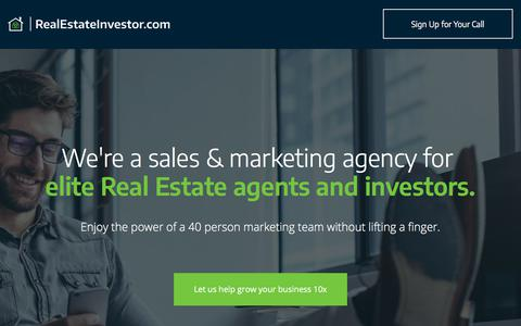 Screenshot of Products Page realestateinvestor.com - Scale Your Business Without Lifting a Finger | RealEstateInvestor.com - captured Oct. 28, 2019