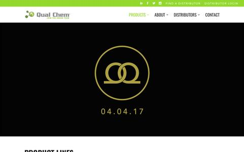 Screenshot of Products Page qualchem.biz - Products | Qual Chem® | Car Wash Chemistry - captured March 29, 2017