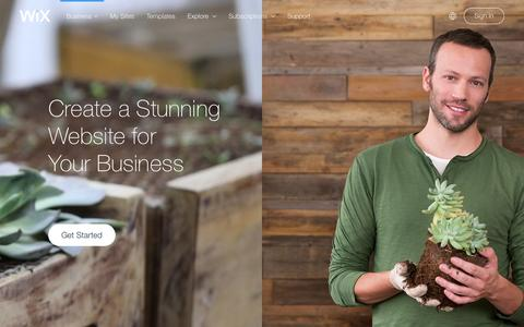 Screenshot of Services Page wix.com - Business Website Builder | Create Small business website | Wix.com - captured Dec. 27, 2015