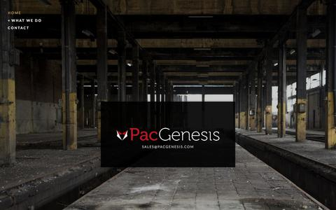 Screenshot of Home Page pacgenesis.com - DevOps and UrbanCode Consultants - captured July 15, 2018