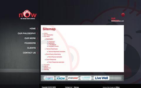 Screenshot of Site Map Page nowscreen.com - Sitemap | Now Screen - captured Oct. 6, 2014