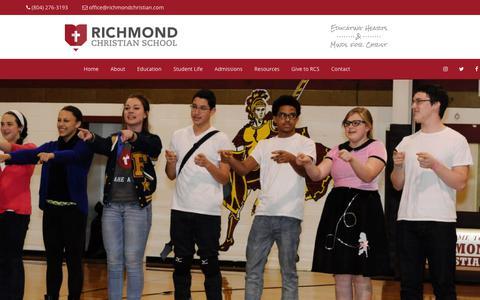 Screenshot of Team Page richmondchristian.com - Leadership | Richmond Christian School - captured Oct. 19, 2018