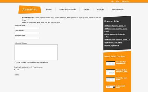Screenshot of Privacy Page Contact Page joomlarra.com - joomlarra - captured Jan. 17, 2016