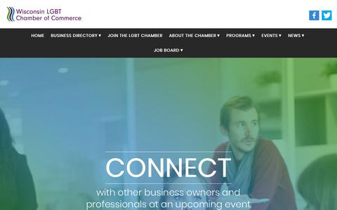 Screenshot of Home Page wislgbtchamber.com - Home - Wisconsin LGBT Chamber of Commerce - captured Oct. 27, 2017