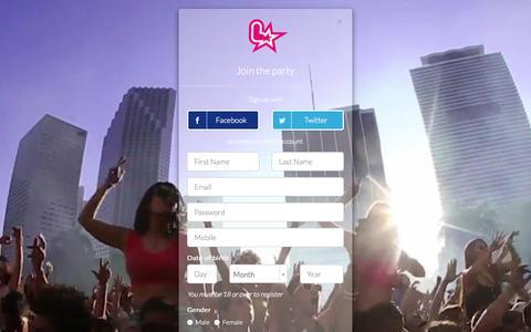 Screenshot of Signup Page licklist.co.uk - Licklist : Registration - captured Sept. 30, 2014