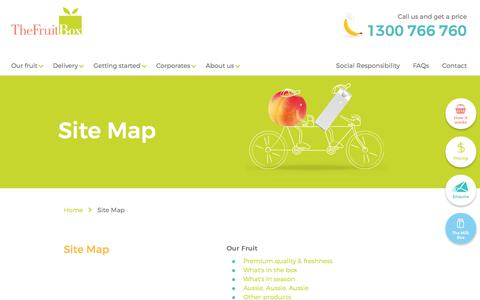 Screenshot of Site Map Page thefruitbox.com.au - Site Map | The Fruit Box - captured June 2, 2017