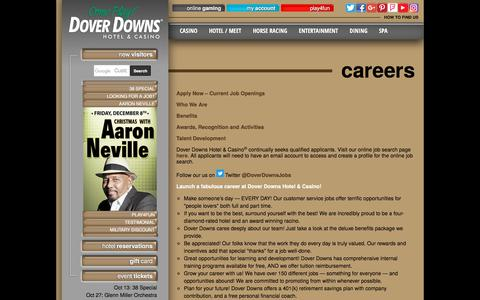 Screenshot of Jobs Page doverdowns.com - Dover Delaware Jobs at Dover Downs Hotel & Casino - captured Oct. 12, 2017