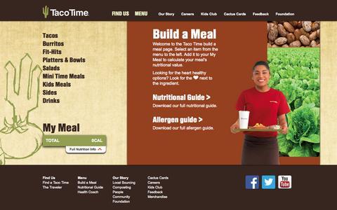 Screenshot of Menu Page tacotimenw.com captured Oct. 6, 2014