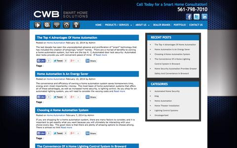 Screenshot of Blog cwbsmarthome.com - cwbsmarthome.com - captured Oct. 27, 2014