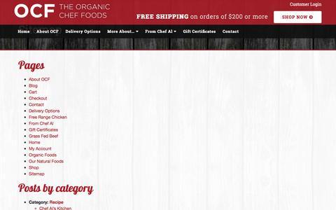 Screenshot of Site Map Page organiccheffoods.com - The Organic Chef | Sitemap | Organic Chef FoodsOrganic Chef Foods - captured Dec. 1, 2016
