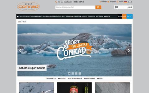 Screenshot of Blog sport-conrad.com - Sport Conrad Blog | Testberichte, Ratgeber und Neuigkeiten - captured Nov. 14, 2017