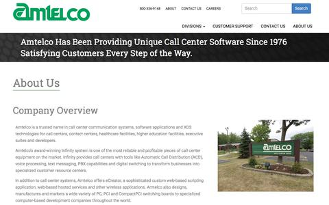 Screenshot of About Page amtelco.com - About Us | Call Center Solutions By AMTELCO - captured July 30, 2018