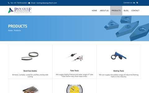 Screenshot of Products Page pangulfsourcing.com - Carbide Drill Inserts | Nut Splitters Manufacturers - captured Feb. 19, 2018