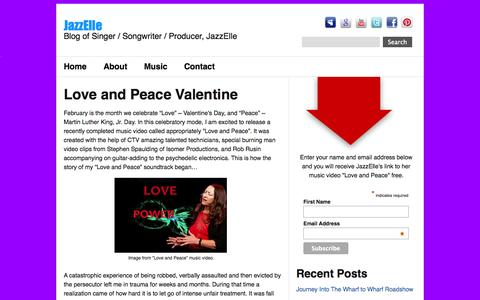 Screenshot of Blog jazz-elle.com - » Love and Peace Valentine JazzElle - captured Oct. 1, 2014