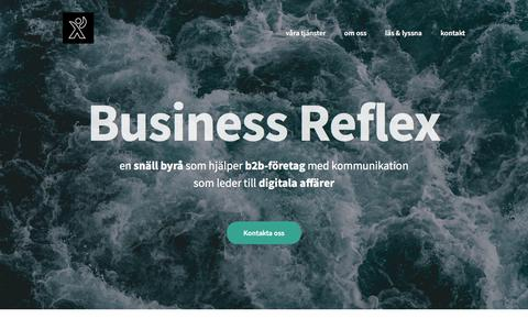 Screenshot of Home Page businessreflex.se - Din digitala marknadsbyrå för B2B | Business Reflex - captured Sept. 21, 2019