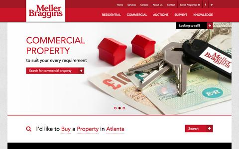 Screenshot of Home Page mellerbraggins.com - Welcome to Meller Braggins - Cheshire Estate Agent - captured Sept. 30, 2014