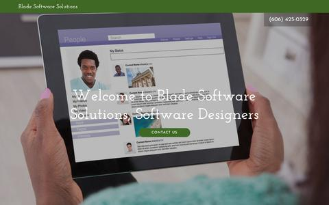 Screenshot of Home Page blade-ware.com - Blade Software Solutions - Software Designers, Accounting Software - captured Feb. 2, 2018