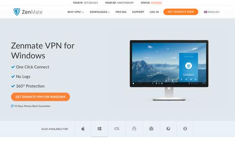 Windows VPN by ZenMate - Internet Security and Privacy