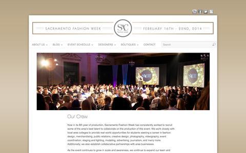 Screenshot of Team Page sacfashionweek.com - Our Team - captured Oct. 4, 2014