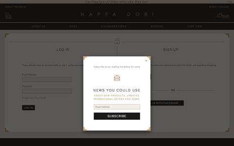 Screenshot of Login Page nappadori.com - Customer Login - captured Sept. 22, 2018