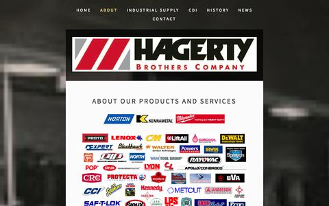 Screenshot of About Page hagertybrothers.com - About — Hagerty Brothers Company - captured Oct. 1, 2014
