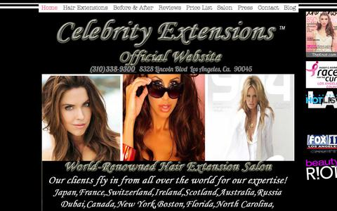 Screenshot of Home Page celebrityextensions.com - Celebrity Extensions | Best Hair Extensions | Hair Extensions - captured July 18, 2017