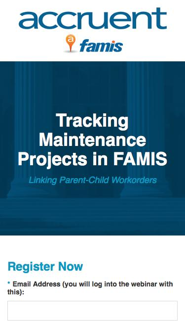 Tracking Maintenance Projects in FAMIS