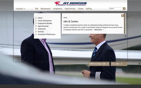 Screenshot of Jobs Page jetaviation.com - Jobs & Careers | jetaviation.com - captured Nov. 27, 2016