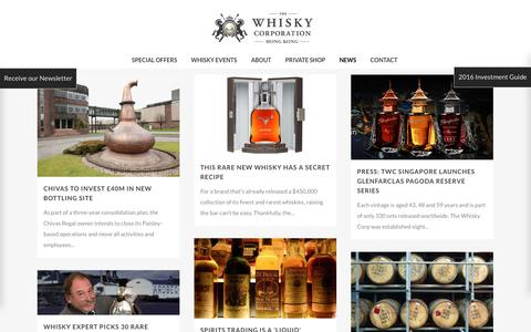 Screenshot of Press Page thewhiskycorporation.com - Whisky News | Whisky Investment | Whisky Releases | Reviews - captured Nov. 9, 2016