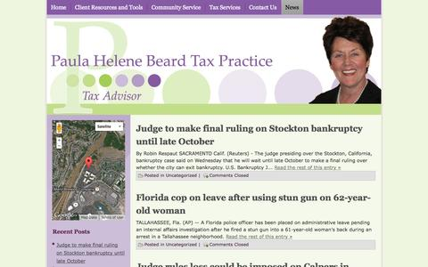 Screenshot of Press Page phelene.com - PHB Tax Practice - Personal and Small Business Professional Tax Services - captured Oct. 2, 2014