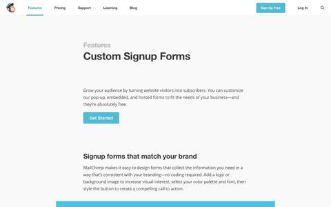 Custom Signup Forms   MailChimp