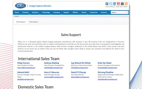 Screenshot of Support Page icrco.com - Support | iCRco - captured Sept. 30, 2014