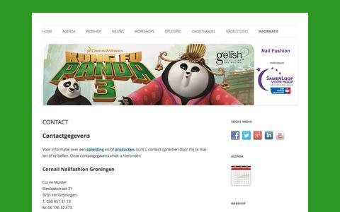 Screenshot of Contact Page cornail.nl - Contact gegevens - captured Feb. 16, 2016