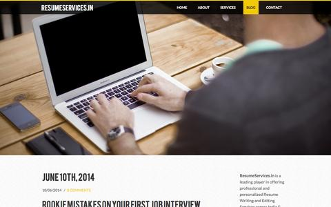Screenshot of Blog resumeservices.in - ResumeServices.in - Blog - captured Oct. 9, 2014