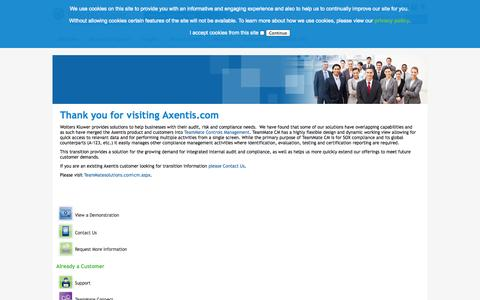 Screenshot of About Page Contact Page Products Page Services Page Site Map Page Terms Page teammatesolutions.com - Axentis Merge - captured Oct. 22, 2014
