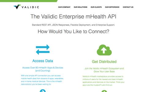 Screenshot of Developers Page validic.com - Developers | Validic - captured Sept. 17, 2014