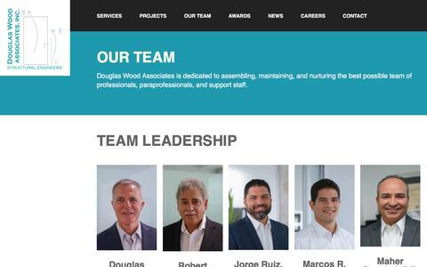Screenshot of Team Page douglaswood.biz - Our Team - Douglas Wood Associates - captured Oct. 12, 2017