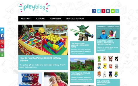 Screenshot of Blog pley.com - Pley Blog • The New Way to Play - captured Sept. 20, 2015