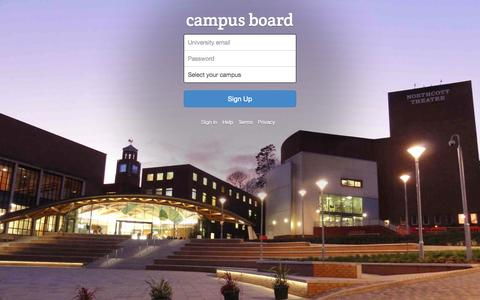 Screenshot of Signup Page campusboard.co.uk - Sign Up to Campusboard - captured Sept. 27, 2014