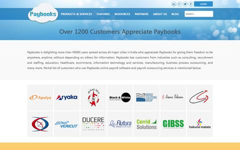 Screenshot of Testimonials Page paybooks.in - Payroll Service Customers | Payroll Software Customers - captured Dec. 7, 2015