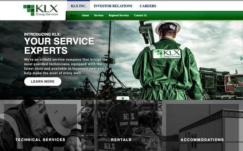 Screenshot of Home Page bulldogfracrentals.com - KLX Energy Services - captured Jan. 7, 2016