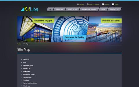 Screenshot of Site Map Page tuflite.com - Sitemap | Tuflite - captured Oct. 7, 2014