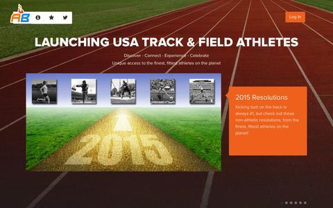 Screenshot of Home Page athletebiz.us - AthleteBiz - captured Jan. 28, 2015