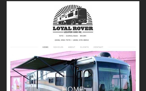 Screenshot of Home Page loyalrover.com - Loyal Rover - captured May 23, 2017