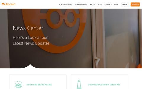 Screenshot of Press Page outbrain.com - Check out the Latest News About Outbrain | News | Outbrain.com - captured May 22, 2018