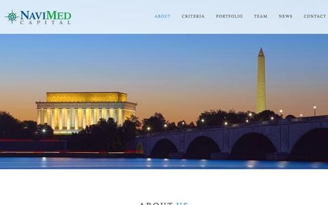 Screenshot of Home Page navimed.com - NaviMed Capital - captured Feb. 27, 2016