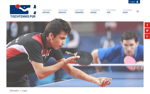 Screenshot of Login Page tischtennis-pur.de - Login - Tischtennis-pur.de - captured Dec. 11, 2018